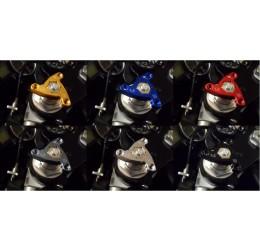 Ghiere precarico forcella modello Stars 4Racing GFS19 esagono 19mm anodizzate in vari colori