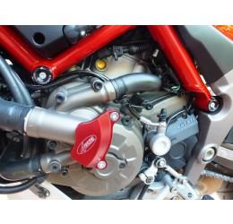 Coperchio pompa acqua in ergal ricavato dal pieno 4Racing per Ducati Multistrada 1200 15-16