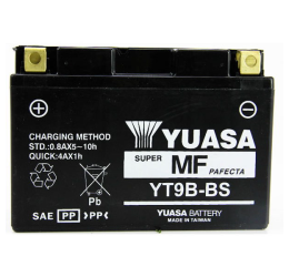 Batteria YUASA YT9B-BS sigillata da 12V/8AH (170x50x105)