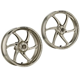 Coppia cerchi OZ in alluminio forgiato modello GASS RS-A a 6 razze per Aprilia Dorsoduro 1200 10-16