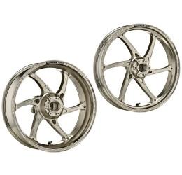 Coppia cerchi OZ in alluminio forgiato modello GASS RS-A a 6 razze per Aprilia RSV4 1000 R Factory APRC 11-14