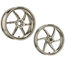 Coppia cerchi OZ in alluminio forgiato modello GASS RS-A a 6 razze per Ducati 1299 Panigale 15-18