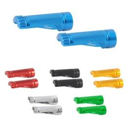 Coppia di poggiapiedi in ergal colorato per supporto snodato Lightech