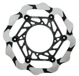 Disco freno anteriore Braking BATFLY ALUMINIUM CROSS a margherita flottante (1 disco) BY4126 ORIGINALE