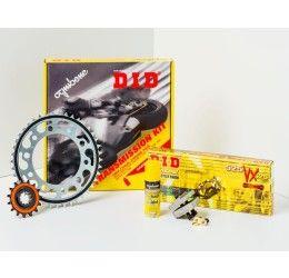Kit trasmissione DID per Kawasaki Ninja 125 19-20 (Catena DID 428-D 132 maglie - Pignone 16 - Corona 56 - Passo 428)