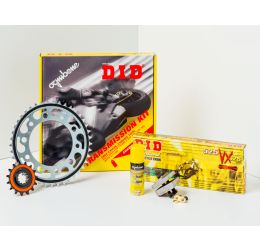 Kit trasmissione DID per Yamaha DT 50 R 07-08 (Catena DID 420 D 124 maglie - Pignone 12 - Corona 45 - Passo 420)