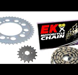 Kit trasmissione PBR per KTM Freeride 250 R 14-19 (Catena EK 520 SR 120 maglie - Pignone 12 - Corona 46 - Passo 520)