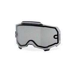 Lente 100% Armega Doppia lente trasparente e ventilata Smoke Vented Dual