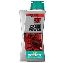 Olio miscelatore Motorex Cross Power 2T 1L (adatto anche su moto ad iniezione 2T)