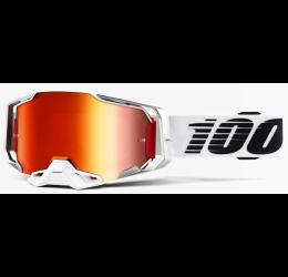 Occhiali Off-Road 100% Armega modello Lightsaber lente a specchio rossa