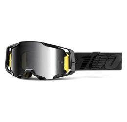 Occhiali Off-Road 100% Armega modello Nightfall lente a specchio argento