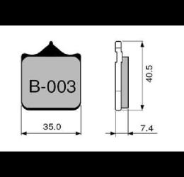 Pastiglie freno ZCOO - Mescola sinterizzata ceramica Pista B003