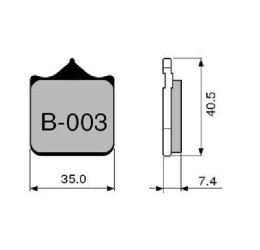 Pastiglie freno ZCOO - Mescola sinterizzata ceramica Pista B003 per dischi a margherita