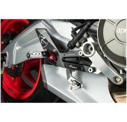 Pedane arretrate Lightech per Aprilia RS 660 20-21 modello R-VERSION con poggiapiede snodato cambio rovesciato