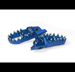 Pedane poggiapiedi maggiorate in ergal ricavate dal pieno GECO 3D per Fantic TF250 ES 11-14