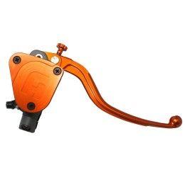 Pompa freno radiale Accossato 19x18 con serbatoio integrato e leva fissa colorata