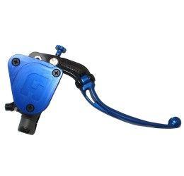 Pompa freno radiale Accossato 19x19 con serbatoio integrato e leva snodata colorata