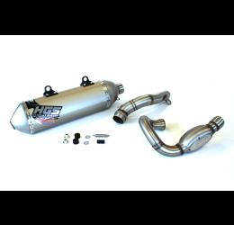 Scarico completo HGS T1 con collettore in acciaio e terminale alluminio con fondello in acciaio per Husqvarna FC 250 19-20
