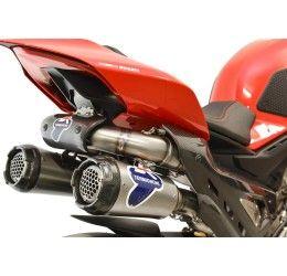 Scarico completo Termignoni non omologato con collettori in titanio e terminale in titanio con fondello in carbonio per Ducati Panigale V4 18-21