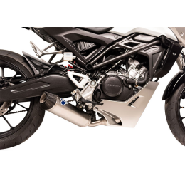 Scarico completo TERMIGNONI omologato  con collettori e terminale in acciaio inox e fondello in carbonio per Honda CB 125 R 18-19