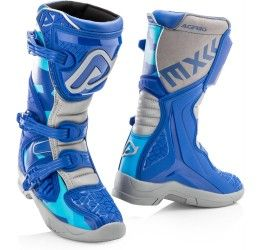 Stivali cross enduro Acerbis X-Team Kid blu-grigio collezione 2021